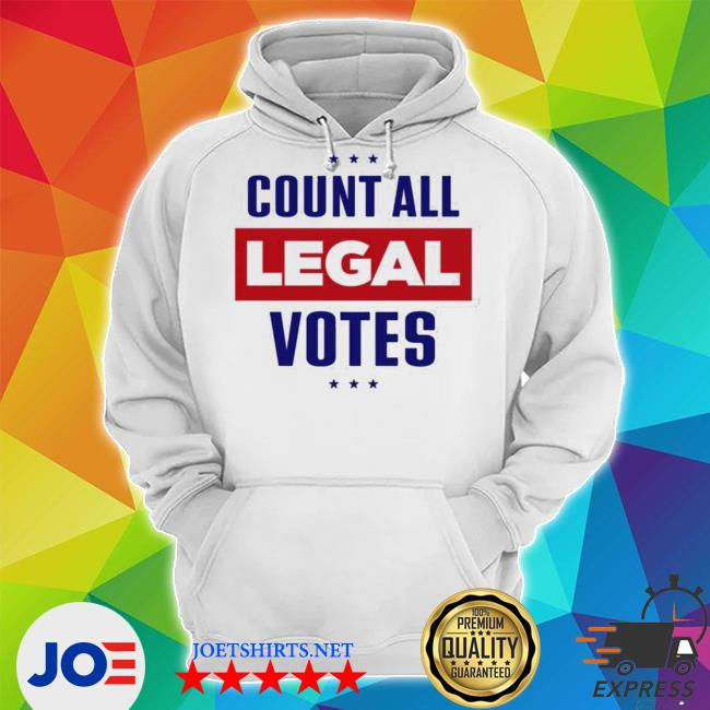 Official team trump iconic count all legal votes s Unisex Hoodie