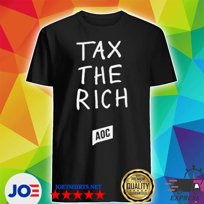 Official aoc merch tax the rich shirt