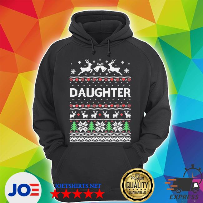 Official daughter ugly christmas s Unisex Hoodie