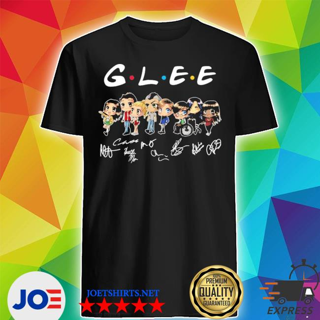 Official glee characters chibi signatures shirt