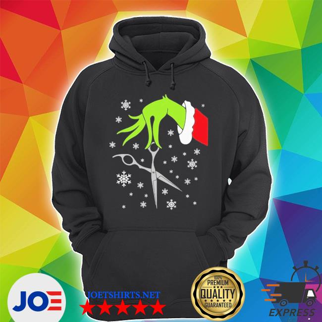 Official grinch funny christmas hair stylist s Unisex Hoodie