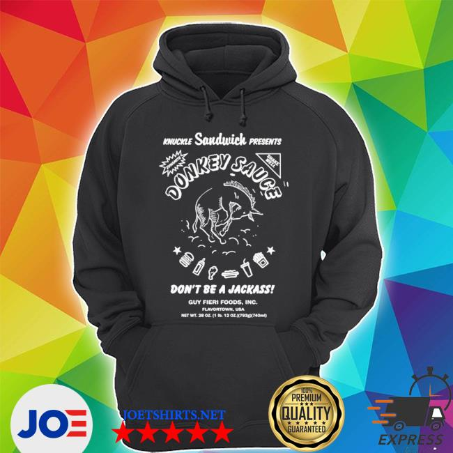 Official guy fieri merchandise donkey sauce don't be a jackass s Unisex Hoodie