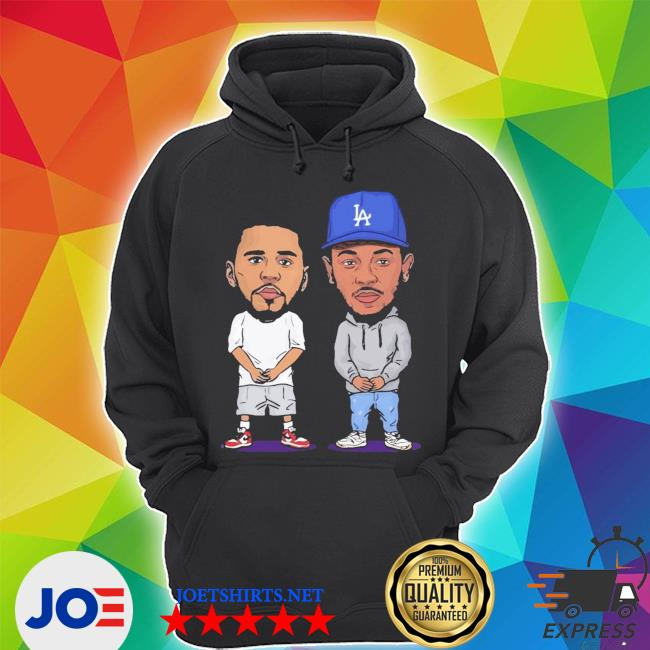 Official j cole and kendrick lamar chibi s Unisex Hoodie
