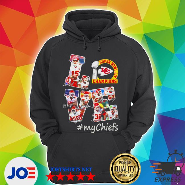Official love kansas city chiefs s Unisex Hoodie