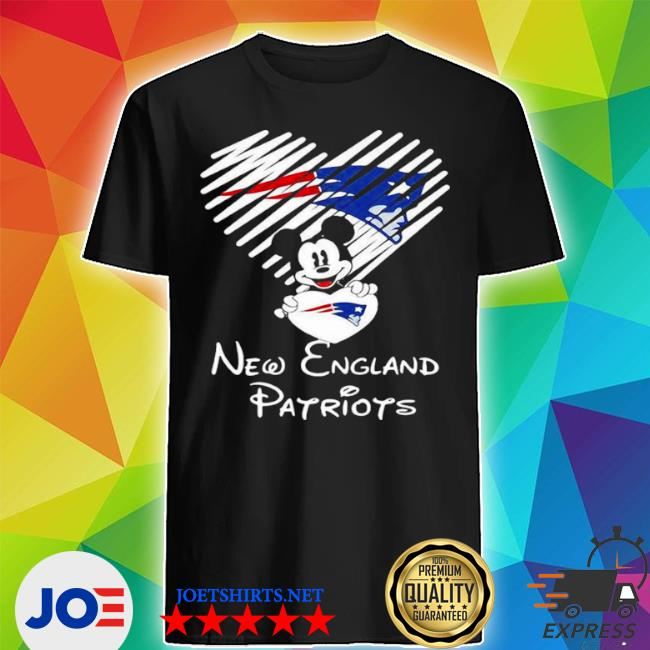 Official mickey mouse love new england patriots shirt