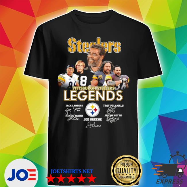 Official pittsburgh steelers legends signatures shirt