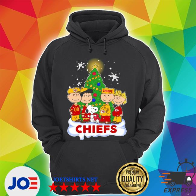 Official snoopy the peanuts kansas city chiefs christmas shirts s Unisex Hoodie