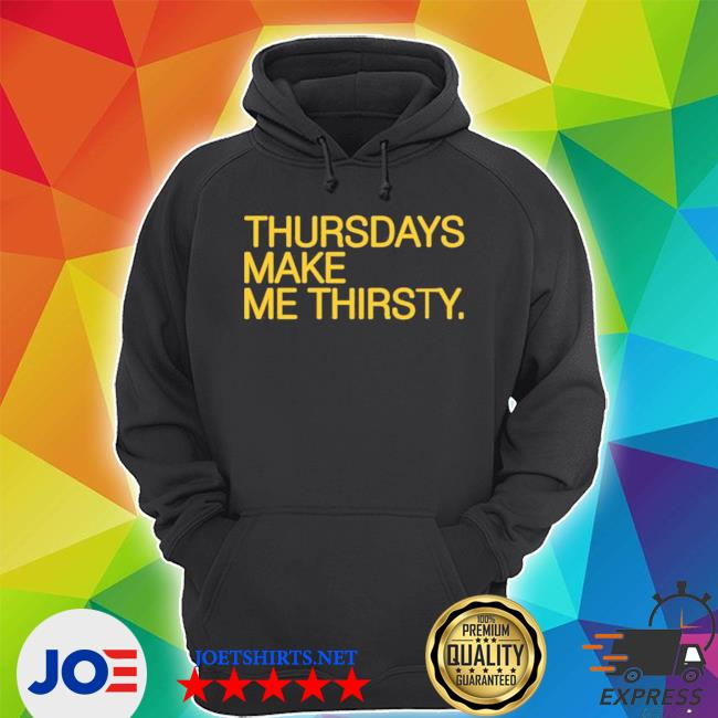 Official thursdays make me thirsty myrtle beach pelicans obvious s Unisex Hoodie