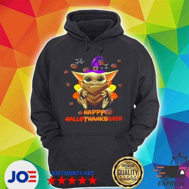 Official witch baby yoda happy hallothankween s Unisex Hoodie