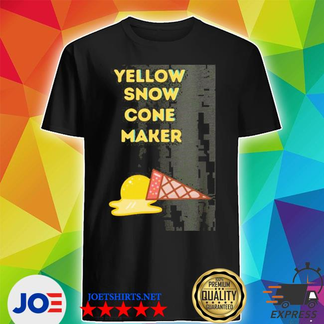 Official yellow snow cone maker shirt