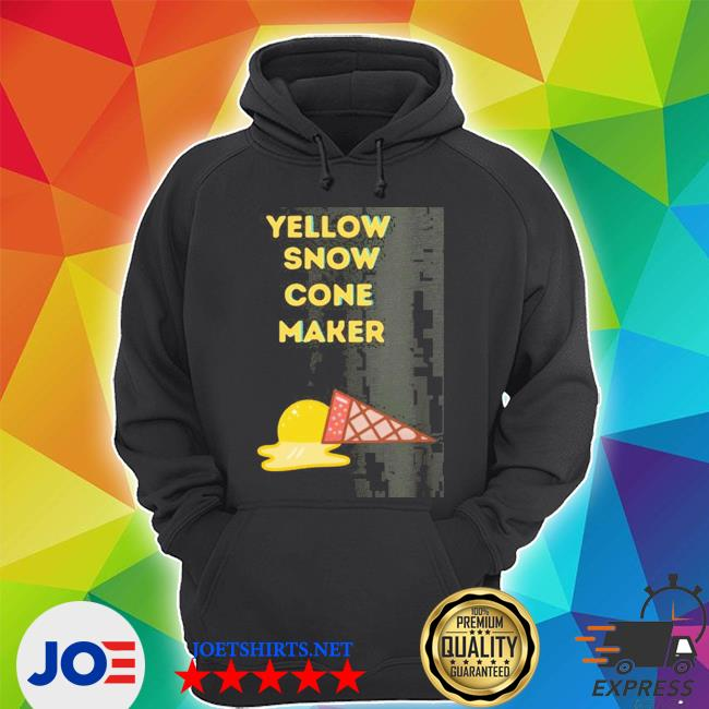 Official yellow snow cone maker s Unisex Hoodie