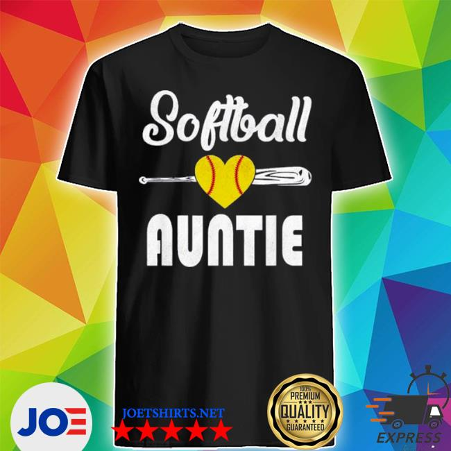 Auntie softball mother's day shirt