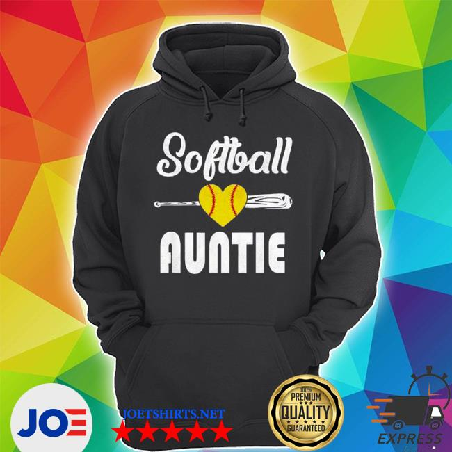 Auntie softball mother's day s Unisex Hoodie