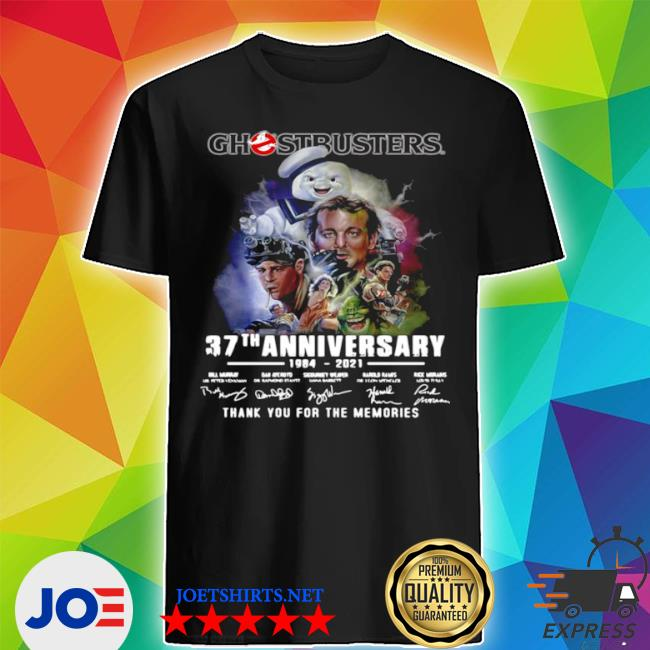 Ghostbusters 37th anniversary 1984 2021 signatures thank you for the memories shirt