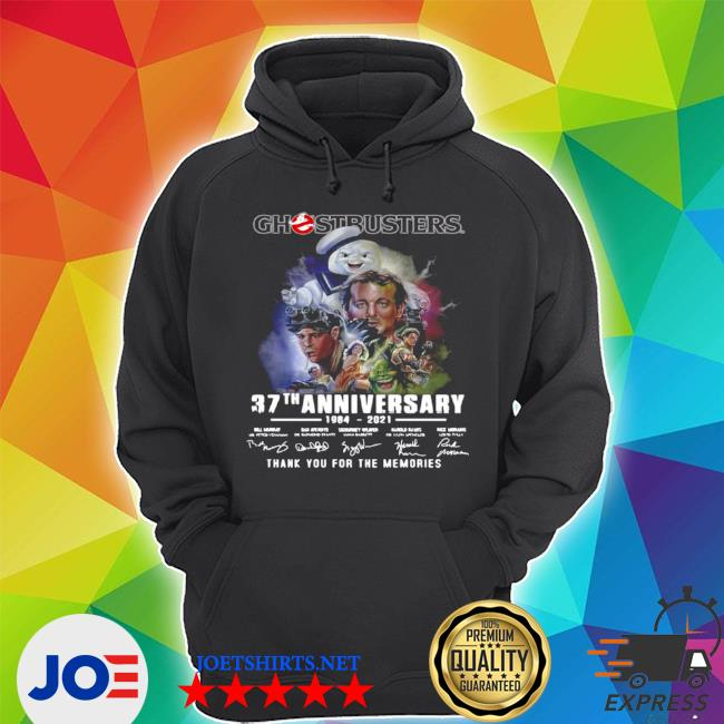 Ghostbusters 37th anniversary 1984 2021 signatures thank you for the memories s Unisex Hoodie