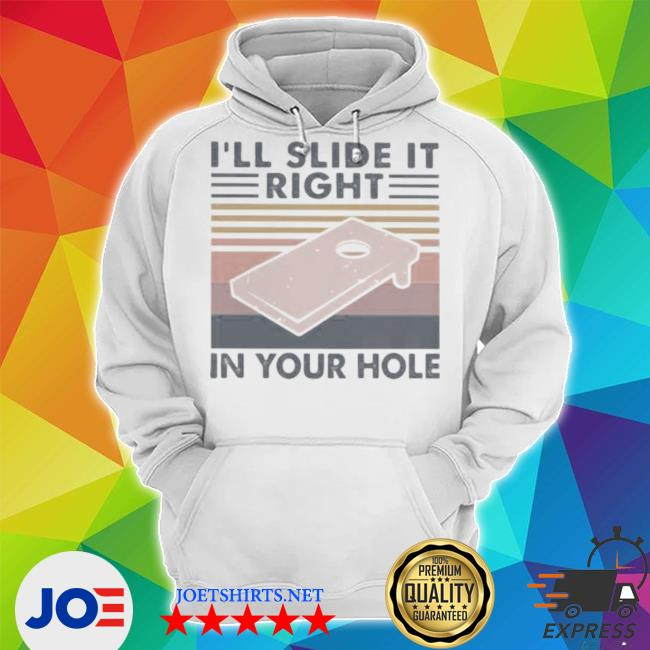 I'll slide it right in your hole vintage retro s Unisex Hoodie