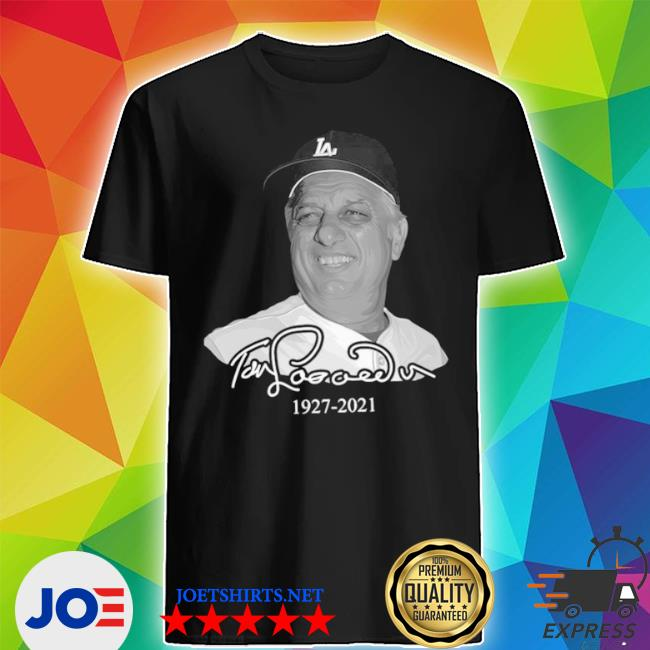 Los angeles Dodgers tommy lasorda 1927 2021 shirt