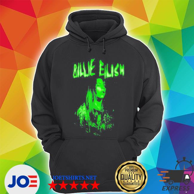Official billie eilish when we all fall asleep world tour cover neon s Unisex Hoodie