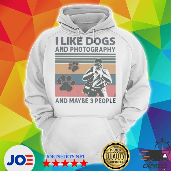 Official i like dogs and photography and maybe 3 people vintage s Unisex Hoodie