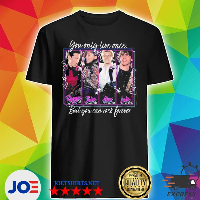 Official julie and the phantoms yolo but you can rock forever shirt
