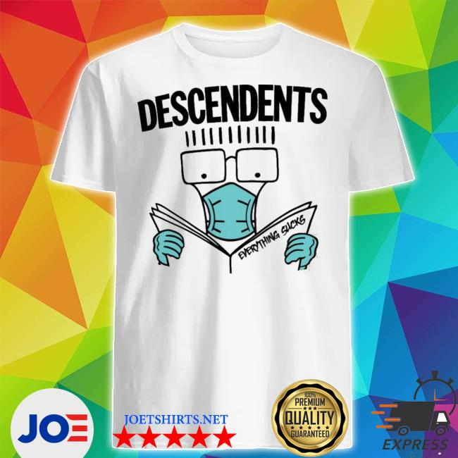 Official my chemical romance descendents thursday and descendents mask everything sucks shirt