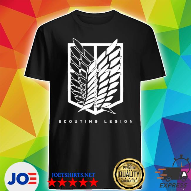 Official scouting legion attack on titan scouting legion cosplay shirt
