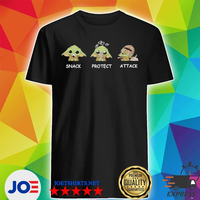 Official yoda snack protect attack shirt