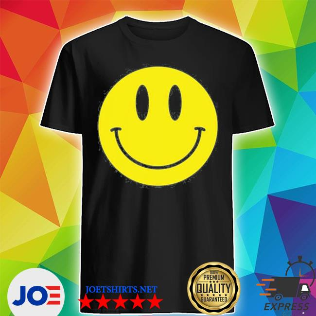 Smiley face happy face smiley face black hooded shirt